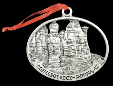 Coffee Pot Rock Ornament