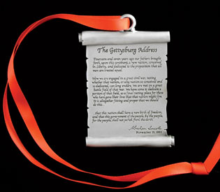 Gettysburg Address scroll